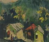 Untitled - S H Raza - Auction May 2005