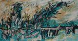 English Landscape with Bridge  - F N Souza - Auction Dec 06