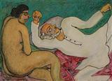 Man and Woman - Jogen  Chowdhury - Auction Dec 06