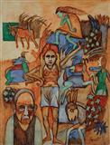 Bush, Humans, Beasts - K G Subramanyan - Auction Dec 06