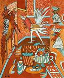 Still Life with Chickens - K G Subramanyan - Auction Dec 06