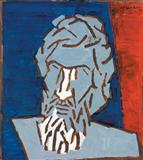 Self Portait - M F Husain - Auction May 2006