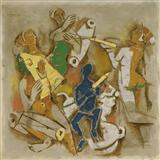 Holi - M F Husain - Auction May 2006