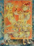 Le Dresseur de Lions - Sakti  Burman - Auction May 2006