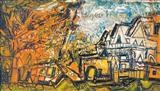 Landscape in Orange - F N Souza - Auction May 2006