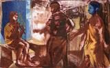 3 Figures (Boy playing flute) - Nataraj  Sharma - Spring Auction 2007