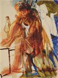 2 Figure Study (Small girl facing left) - Nataraj  Sharma - Spring Auction 2007