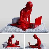India Shining I (Gandhi and the Laptop) - Debanjan  Roy - Autumn Auction 2008