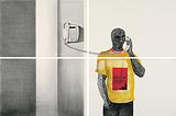The Man with Telephone - Phaneendra Nath Chaturvedi - Autumn Auction 2008
