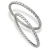 A PAIR OF DIAMOND BANGLES -    - Auction of Fine Jewels