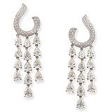 A PAIR OF DIAMOND EAR PENDANTS -    - Auction of Fine Jewels