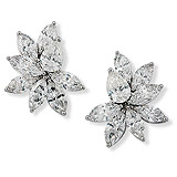 A PAIR OF DIAMOND CLUSTER EAR CLIPS -    - Auction of Fine Jewels
