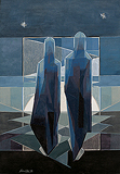 Dark Silhouettes, The Moon - Jehangir  Sabavala - Summer Auction 2008