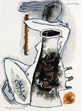 Homage to Cimabue IV - M F Husain - Summer Auction 2008