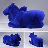 Nandi in Blue - Arunkumar H G - Winter Auction 2008