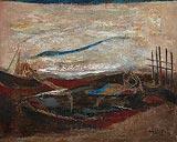 Fish Haul - K K Hebbar - Winter Auction 2008