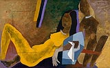 Untitled (Yellow Bride) - M F Husain - Winter Auction 2008
