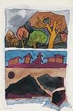 Landscape VI - M F Husain - Winter Auction 2008