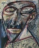 Untitled (Head) - F N Souza - Winter Auction 2008