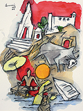 Untitled - M F Husain - Autumn Auction 2009