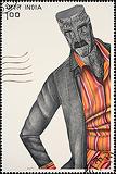 Anthropomorphic Stamp - Phaneendra Nath Chaturvedi - Autumn Auction 2009