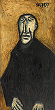 Man with Baked Features in a Black Coat - F N Souza - Autumn Auction 2009