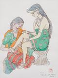 Untitled - A  Ramachandran - Winter Auction 2009
