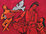 Untitled - M F Husain - Winter Auction 2009