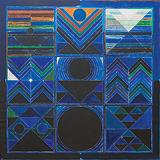 Germination Blue - S H Raza - Winter Auction 2009
