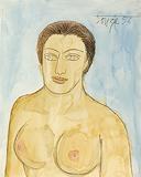 Untitled (Female Bust) - F N Souza - Autumn Auction 2010
