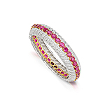 A RUBY AND DIAMOND BANGLE -    - Spring Auction of Fine Jewels