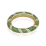 AN EMERALD AND DIAMOND BANGLE -    - Spring Auction of Fine Jewels