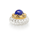 A VICTORIAN CRYSTAL AND LAPIS LAZULI PILL JAR -    - Spring Auction of Fine Jewels