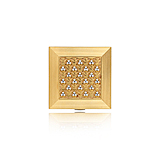 A GOLD AND DIAMOND POWDER CASE -    - Spring Auction of Fine Jewels