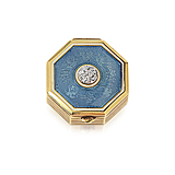 AN ENAMEL AND DIAMOND PILL BOX -    - Spring Auction of Fine Jewels