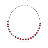 A RUBY AND DIAMOND NECKLACE -    - Spring Auction of Fine Jewels