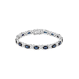 A SAPPHIRE AND DIAMOND BRACELET -    - Spring Auction of Fine Jewels
