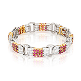 A RUBY AND DIAMOND BRACELET -    - Spring Auction of Fine Jewels