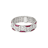 A DIAMOND AND RUBY BRACELET -    - Spring Auction of Fine Jewels