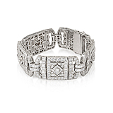 AN ART-DECO INSPIRED DIAMOND BRACELET -    - Spring Auction of Fine Jewels
