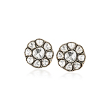 A PAIR OF `POLKI` DIAMOND EAR CLIPS -    - Spring Auction of Fine Jewels