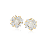 A PAIR OF PEARL AND DIAMOND EAR CLIPS -    - Spring Auction of Fine Jewels
