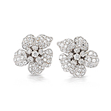 A PAIR OF DIAMOND EAR CLIPS -    - Spring Auction of Fine Jewels