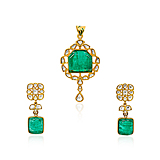 A SUITE OF EMERALD AND DIAMOND JEWELRY -    - Spring Auction of Fine Jewels