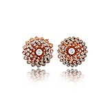 A PAIR OF CORAL AND DIAMOND EAR CLIPS -    - Spring Auction of Fine Jewels
