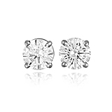A PAIR OF DIAMOND EAR STUDS -    - Spring Auction of Fine Jewels