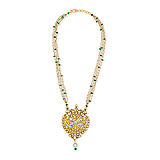 A DIAMOND, EMERALD AND PEARL NECKLACE -    - Spring Auction of Fine Jewels