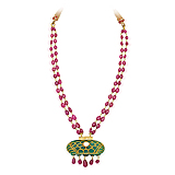A RUBY AND EMERALD NECKLACE -    - Spring Auction of Fine Jewels