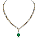 AN EMERALD AND DIAMOND NECKLACE -    - Spring Auction of Fine Jewels