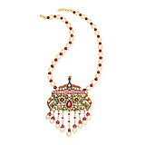 A RUBY AND PEARL `PEACOCK` NECKLACE -    - Spring Auction of Fine Jewels